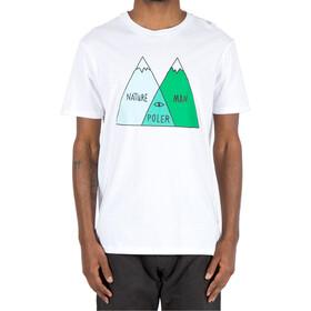 POLER Venn Camiseta Hombre, white